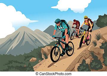 hegy bikers, alatt, a, hegy