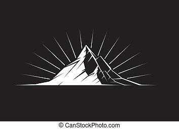 hegy csúcs, éjszaka