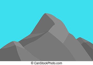 hegy csúcs, silhouette.
