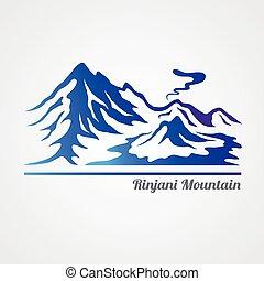 hegy, rinjani
