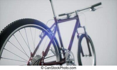 hegy, sport, bicikli, alatt, műterem