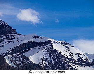 hegy, sziklás, csúcs