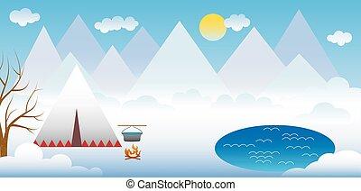 hegy, tél parkosít