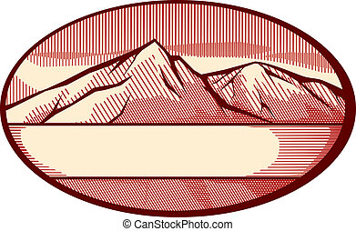 hegy, vektor, ábra