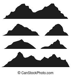 hegyek, állhatatos, ikon