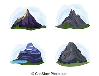 hegyek, állhatatos, természet