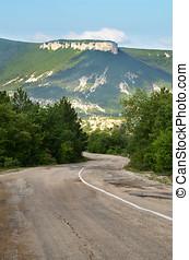 hegyek, öreg, út