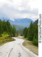 hegyek, autóút