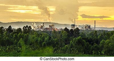 hegyek, gyár
