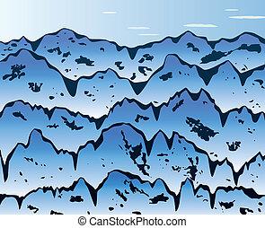 hegyek, háttér