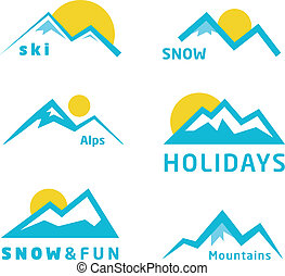 hegyek, ikonok