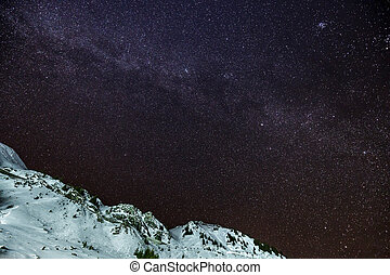 hegyek, nightscape