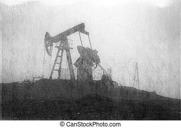 hegyek, olaj pumpa