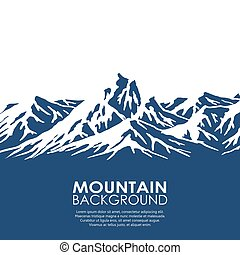 hegylánc, elszigetelt, white, háttér