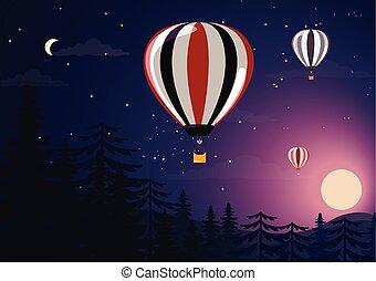 heiß, baloon, luft