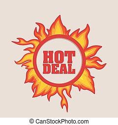 heiß, design, karten geben