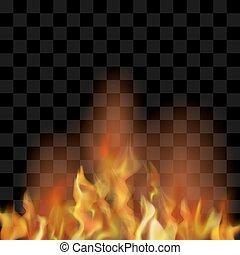 Brennender, feuer, heiß, flamme, design, kreis, rotes . 10,... EPS ...