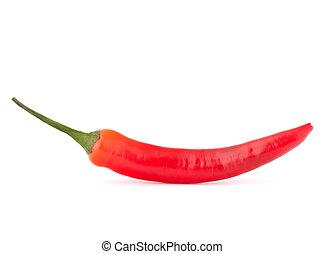 heiß rot, chili, oder, peperoni
