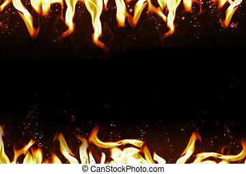 Feuer, hintergrund., heiß, temperatur, rahmen Stockfotos - Suche ...