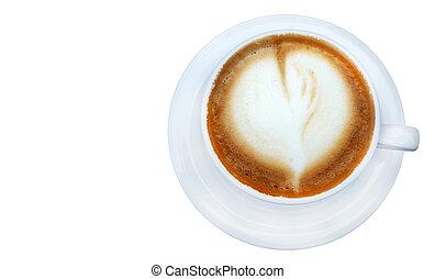 heißer kaffee, cappuccino, latte