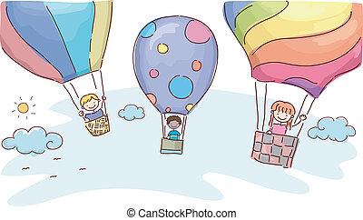 heißluft, abenteuer, balloon