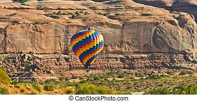 heiãÿluftballon, abheben