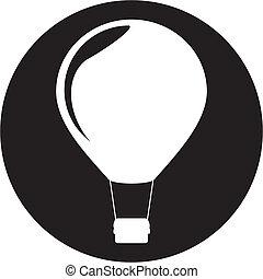heiãÿluftballon, ikone