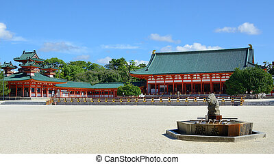 Heian Shrine - The historic Heian Shrine in Kyoto, Japan.
