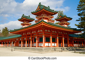 Heian Shrine - A view of Heian Shrine, the one of the...