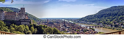 Heidelberg city and Neckar river, Germany - Heidelberg city...
