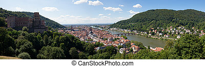 Heidelberg city panorama