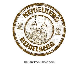heidelberg, francobollo