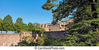 heidelberg kasteel, ruïnes