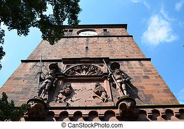 Heidelberg, main entrance to the castle 1
