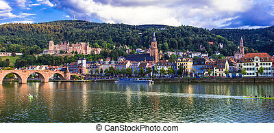 Heidelberg one of the most beautiful medieval cities in Germany with impressive bridge and castle