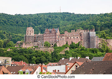 Heidelberg castle at the Neckar, Heidelberg, Germany, a...