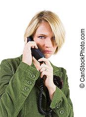 Heidi Booysen #11 - Business woman green jacket, talking...