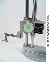 Height gage on white background