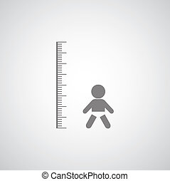 height measurement little boy symbol