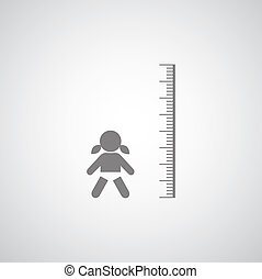 height measurement little girl symbol