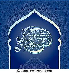 heilig, fest, moslem, ramadan, gemeinschaft, monat, kareem