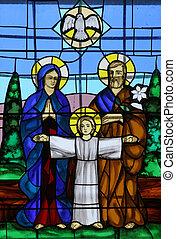 heilig, gezin, glasinlood