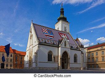 heilige mark, kirche, in, zagreb, kroatien
