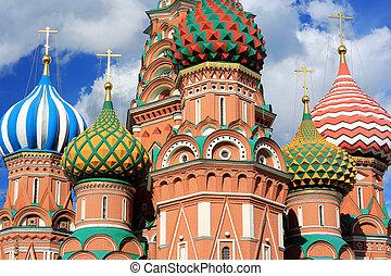 heilige, nelkenbasilie, kathedrale, moskauer , russland