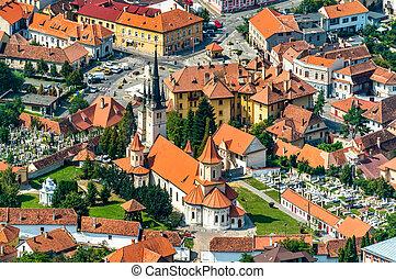 heilige nicholas, kirche, in, der, alte stadt, von, brasov, rumänien