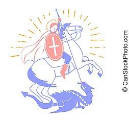heilige, pictogram, georgi