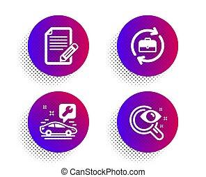 heiligenbilder, auto, set., service, vektor, ressourcen,...