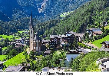 Heiligenblut church in Austria Alps