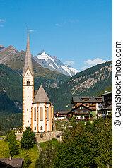 Heiligenblut town under the Grossglockner mountain in Hohe Tauern national park