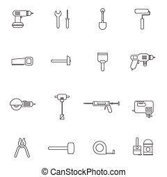 heim reparatur, werkzeuge, wohnung, ikone